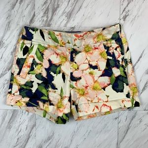 J Crew Floral Stretch Shorts Sz 00